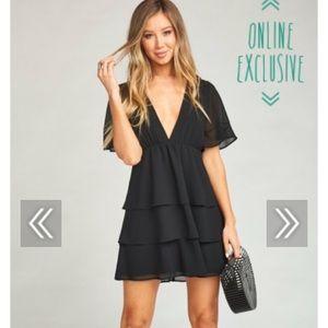 Show Me Your MuMu Dulce Dress ~ Black Chiffon
